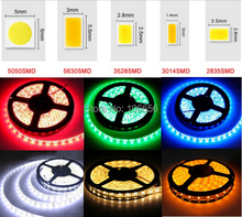 DC 12v flex led light strip waterproof ip65 SMD 2835 3014 5630 5050 warm white cold white rgb 5m led strip taps