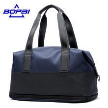 BOPAI Men Travel Duffle Size Can Be Extended Blue Duffle Bags Waterproof Oxford Shoulder Travel Bags Women Packing Cubes valise
