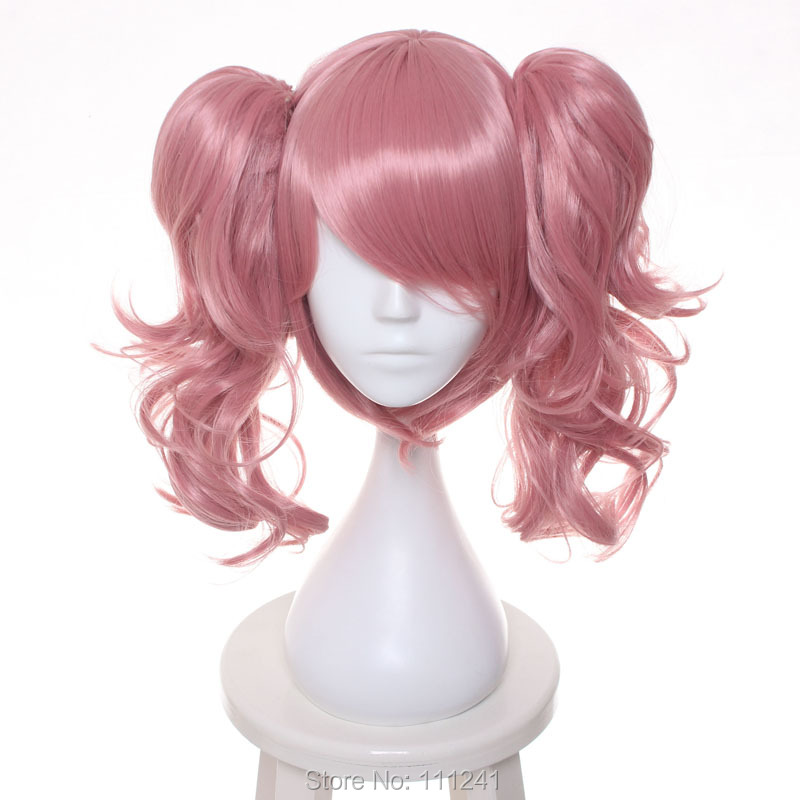 Inu X Boku SS Roromiya Karuta Pink Culy Removable Chip Ponytail Cosplay Anime Wig Hair<br><br>Aliexpress