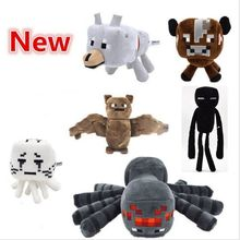 Minecraft Stuffed Plush Toy Game Doll Spider Mooshroom Sheep Enderman Ocelot Zombie Pig Squid Archer Bat Wolf Children Kid Gift(China)
