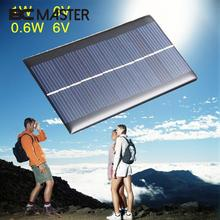 BCMaster 80x55x2.5mm Portable 6V 0.6W Solar Power Panel Polysilicon Solar Panel Bank Home DIY Phone Toy Small Charger(China)