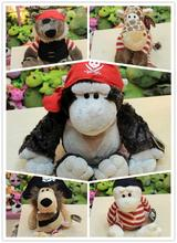 Free Shipping NICI plush toys pirate series lion / gorilla / giraffe / Gecko / Bear doll, baby toy Christmas gifts