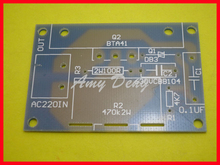 10pcs/lot 3800W SCR dimming module PCB board power electronic speed regulator thermostat module empty plate(China)