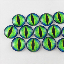 Wholesale 20pcs/lot 18mm Mixed Style Dragon Eyes Round time gem cover Glass Cabochon Dome Jewelry Finding Cameo Pendant Setting(China)