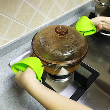 Kitchen Silica Microwave Oven Insulation Gloves Silicone Oven Insulated Gloves(China)