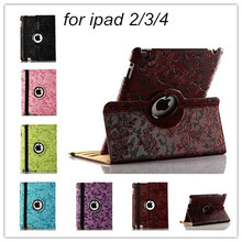 hot sell 3d printer grape pattern pu Leather case for Apple iPad 2 Leather Cases Stand Cover for Apple iPad 4 ipad3 tablets case