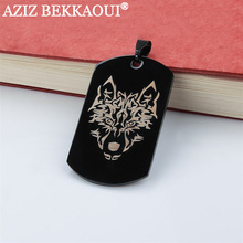 Personalized Logo Dog Tag Pendant Necklaces Stainless Steel Military Army ID Tag Necklace Black/Blue/Gold/Rose-gold Color(China)