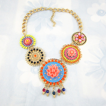 2015 New Name Brand Flower Necklaces & Pendants For Women Designer Statement Necklace Fashion Luxury Pendant Necklace Jewelry