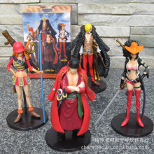 J.G Chen Anime Figures One Piece Film Z PVC Action Figure Toys Dolls Zoro Sanji Nami Robin 15cm set of 4 New Janpanese Anime