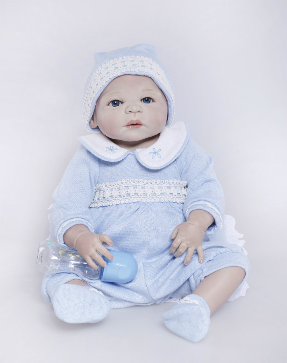 2015 Sales Promotion Full Vinyl Reborn Doll Lifelike Real Touch Baby dolls For children Best Gift 50-55cm Free shipping<br><br>Aliexpress