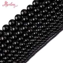 "2,3,4,6,8,10,12,14,16mm Smooth Round Black Agates Stone Beads Strand 15"" For DIY Necklace Bracelats Jewelry Making,Free Shipping(China)"