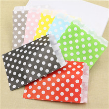13*18cm lovely polka dot spotty paper bag food packaging bag party candy gift favor bags 25pcs/lot