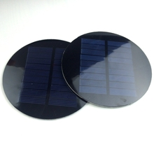 10pcs/lot Round 4.5V 100mA PET Solar Cell Diameter 88.5mm High Quality Solar Panel For DIY Toy Solar Light
