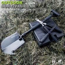 Multifunctional Camping shovel Cutting Axe Folding Outdoor tools for camp fishing hunting survival car enthusiast with Toolbox(China)