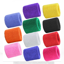 2PCs Terry Cloth Wristbands Sport Sweatband Hand Band Sweat Wrist Support Brace Wraps Guards For Gym Volleyball Basketball