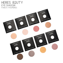 Brand HERES B2UTY DIY Fix Eyeshadow LongLasting Eyeshadow Daily Natural & Mineral Type Free Match BUY 8 pcs GET 1 Box as GIFT(China)