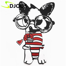 Dog Embroidery Patches for Clothing Jeans Jackets T-Shirt Dress Motorcycle Cartoon Iron-on Patch Handmade Decoration Accessories