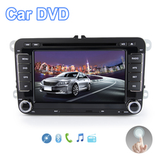 Viecar 2 Din 7''Car DVD Player For VW Volkswagen SEAT SKODA golf 6 passat b6 b7 With 3G USB WIFI BT IPOD FM RDS GPS Navigation(China)