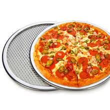 New Multi-Size Aluminum Pizza Tray Screen Mesh Pizza Stones Baking Pan Pizza Stone Tray Pancake Net Pastry Bakeware Baking Tools(China)