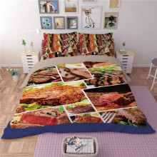 illucity 3D cuisine korean cotton duvet/doona cover set US king queen full twin size 3pcs bedclothes(China)