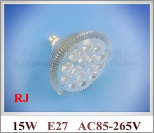 lathe profile aluminum LED spot light lamp spotlight LED bulb par light parlight E27 AC85-265V 15LED 15W 1200lm 50pcs/lot