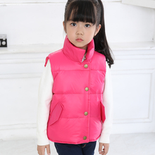 Children Down Cotton Vest 2017 Boys and Girls Warm Sports Vest Baby Casual Thin Breathable Colorful Children's Vests