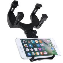Sanheshun Hot Sale Smartphone Holder Auto Car Rearview Mirror Mount Stand Holder Cradle For Universal CellPhone GPS