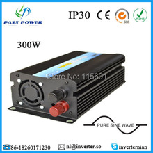 Free Shipping CE RoHs SGS Off Grid Single Phrase 12V 24V 48V DC 220V 230V 240V 110V AC Car Inverter Pure Sine Wave 300W(China)