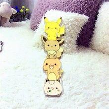 1PCS Icon Pikachu Pokemon Harajuku Acrylic Pin Badges anime Cartoon Backpack Pins Icons for hat bags scarf anime pins(China)