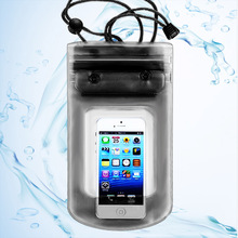 New sport Swimming smartphone bag Waterproof Dry Mobile Phone Bag Case Transparent With Scrub 7colors