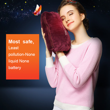 Hot water bottle new concept most safe no liquid no battery charging last 2-6 hours heat design hand warmer free shipping