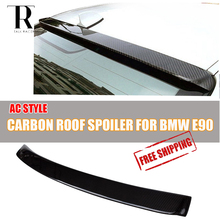 E90 Carbon Fiber Rear Roof Window Wing Spoiler for BMW E90 316 318 320 325 330 335 2005 - 2011 AC Style