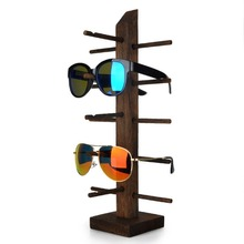 Lan Lin Brown 5 Layers Wood-Wenge Sunglasses Dispaly Holder Glasses Display Show holder display stand incorporate props 18*38cm