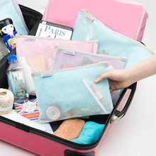 3PCS/SET Travel Cosmetic Bag Lingerie Bra Beauty Make Up Toiletries Mesh Bag Organizer Luggage Accessories Supplies Products