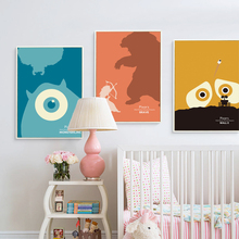 Popigist Simple Pixar Animation Movies A4 Canvas Art Painting Print Poster Picture Wall Boy Child Room Home Decorative Murals