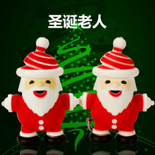 Santa Claus figure/doll toy Lights+Sound(Christmas Carol) Adorable Cartoon garage kit Pendant Giveaway Torch Keychain Keyring
