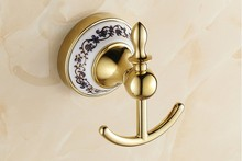 Fashion Bathroom Accessories European Antique Bronze ceramic Robe Hook ,Clothes Hook,Coat Hook, Vintage single Robe hook
