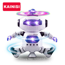 360 Rotating Smart Space Dance Robot Electronic Walking Toys With Music Light Astronaut Toy For Kid Christmas Birthday boy Gift(China)