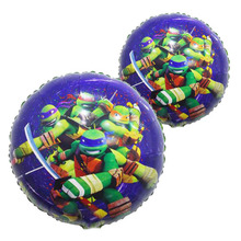 18inch 60pcs/lot Teenage Mutant Ninja Turtles Round Balloons Kids Toys Birthday Party Decorations Foil Ballon