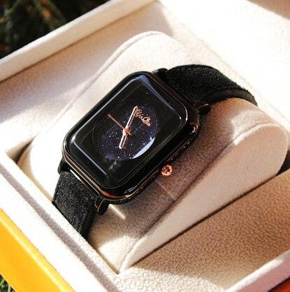 Luxury brand woman watch sapphire diamond dial business casual leather belt fashion waterproof quartz watch relogio masculino<br>