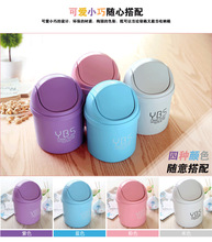 Waste Bins 12 styles Plastic desktop garbage cleaning barrel creative candy color small trash can Desk Organizer Dustbins 9D0016