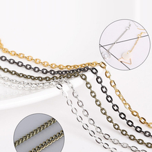 5m/lot 2*3/3*4/4*5mm Metal Necklace Chains Bulk Fit Bracelets Findings Gold/Silver/Brown Color Link Chain For Jewelry Making(China)