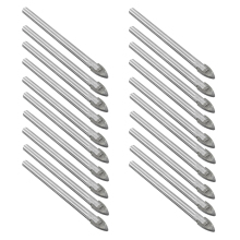 20pcs 6mm Tungsten Carbide Drill Bit Glass Tile China Ceramic Cake Stand Handles(Bhutan)