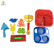 Beach Sand Toys Set With Mesh Bag Play Game for Kids Color Random