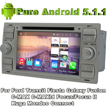 Quad Core 2 Din Android 5.1 Car DVD Automotivo Black color For Ford C-MAX 2006-2010 S-MAX 2005-2009 Old Focus/Focus II 2G ROM
