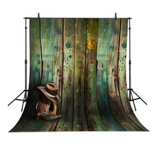 Dallas Cowboy Hat Wood photography studio background Vinyl cloth High quality Computer printed wood backdrop(China)