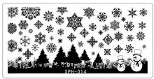 NEW ARRIVED SPH11-17 8Designs nail christmas /Halloween printing plate 6.5*12.5CM Rctangular Nail Art Stamping Plate Template(China)