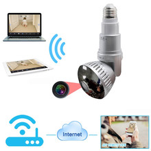 IB-175WM New Style  Home Security WIFI Camera APP Remote Control P2P IR LED Light Bulb Camera Supprot 32GB SD Storage