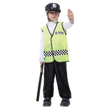 Shanghai Story!!Halloween children's traffic police clothing police clothing Kids show costume for cosplay costume