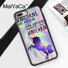 MaiYaCa PASTEL METALLIC PRINT UNICORN AWESOME GALAXYS Soft Rubber Mobile Phone Cases For iPhone 6 6S Plus 7 7 Plus 5 5S SE Cover(China)